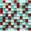 Crystal Red Blue 30x30